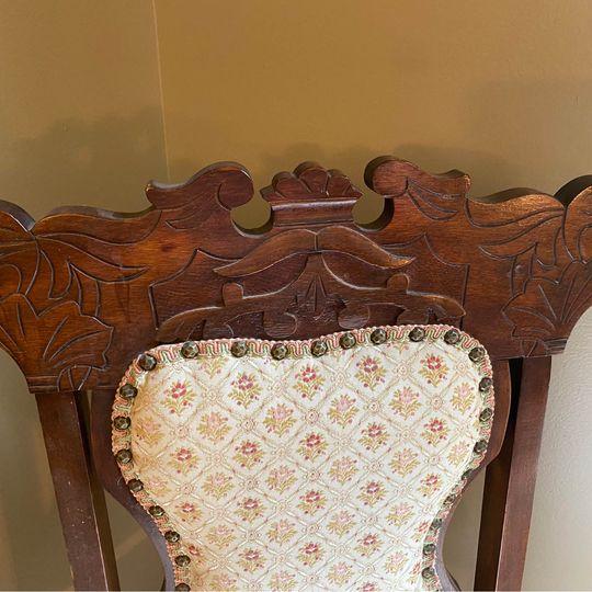 Vintage chair closeup